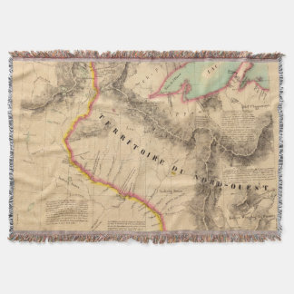 United States Mid west 41 Throw Blanket