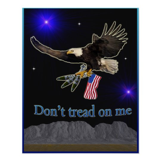 United States Military Eagle Poster