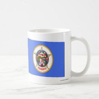 United States & Minnesota Flags Mug