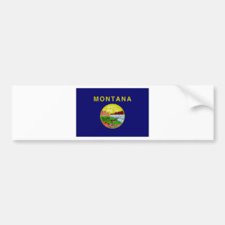 United States Montana Flag Bumper Stickers