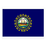 United States New Hampshire Flag Postcard