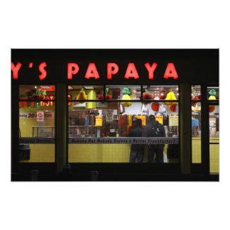 United States, New York. Gray's Papaya: window Photo Print
