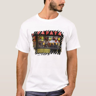 United States, New York. Gray's Papaya: window T-Shirt