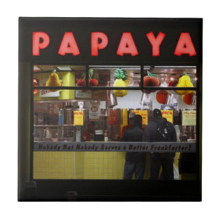 United States, New York. Gray's Papaya: window Tile