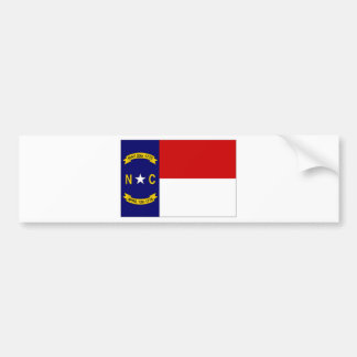 United States North Carolina Flag Bumper Sticker