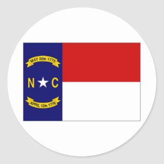 United States North Carolina Flag Round Sticker