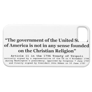 United States Not Founded on Christian Religion iPhone 5 Cover