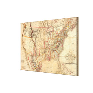 United States of America 10 Canvas Print