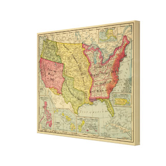 United States of America, 1900 Canvas Print