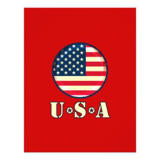 United States of America 21.5 Cm X 28 Cm Flyer