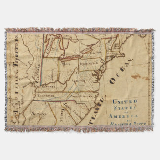 United States of America 2 Throw Blanket
