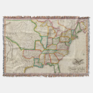 United States of America 4 Throw Blanket