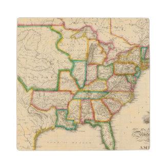 United States of America 4 Wood Coaster