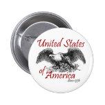 United States of America 6 Cm Round Badge