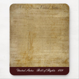United States of America Bill of Rights Mouse Pad
