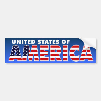 United States of America Bumper Sticker