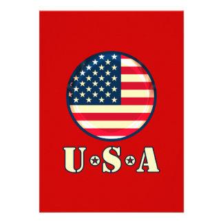 United States of America Custom Invitation