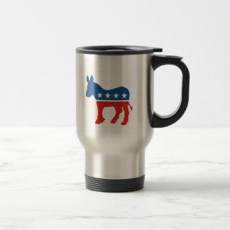 united states of america democrat party donkey usa travel mug