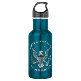 United States of America Distressed 532 Ml Water Bottle