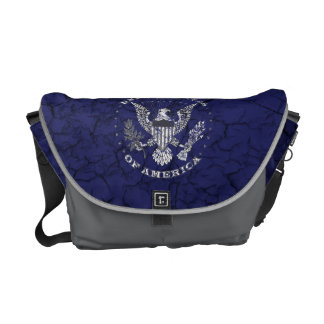 United States of America Distressed Messenger Bag