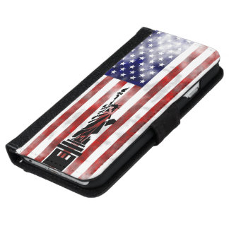 United States of America faded flag iPhone 6 Wallet Case