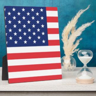 United States Of America Flag Display Plaque