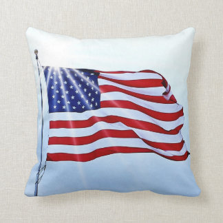 United States of America flag in the wind Cushion