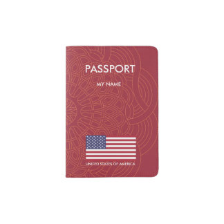 United States of America flag Passport Holder