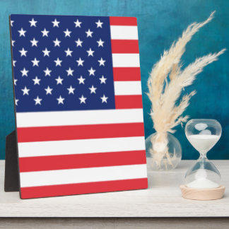 United States Of America Flag Plaque