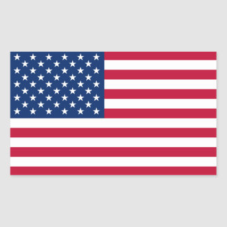 United States of America Flag Rectangular Stickers