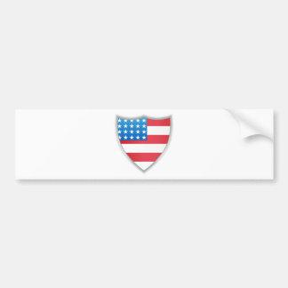 United States of America Flag Shield Bumper Sticker