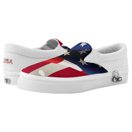United States of America flag Slip-On Shoes
