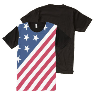 United States of America Flag (USA) All-Over Print T-Shirt