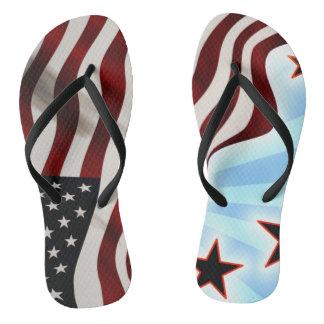 United States of America flag waving flag Flip Flops