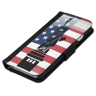 United States of America glossy flag iPhone 6 Wallet Case