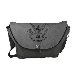 United States of America Grunge Messenger Bag