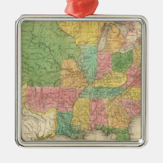 United States of America History Map Christmas Ornament