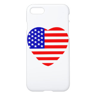 United States of America in heart shape iPhone 8/7 Case