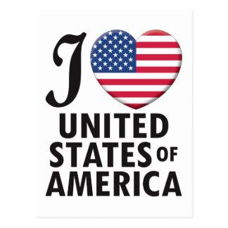 United States of America Love Postcard