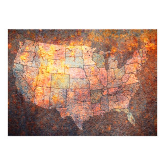 United States of America Map Invite