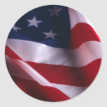 United States of America National  Flag Round Stickers