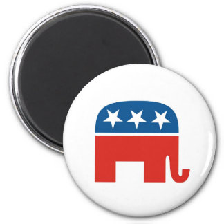 united states of america republican party elephant 6 cm round magnet