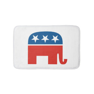 united states of america republican party elephant bath mat