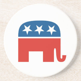 united states of america republican party elephant beverage coasters