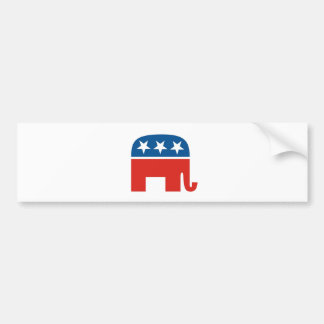 united states of america republican party elephant bumper sticker