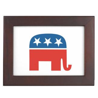 united states of america republican party elephant keepsake box