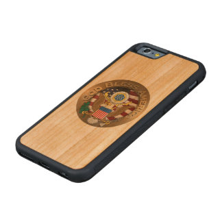 United States of America Seal - God Bless America Carved® Cherry iPhone 6 Bumper Case