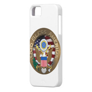 United States of America Seal - God Bless America iPhone 5 Cover