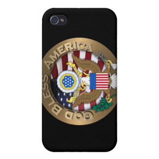 United States of America Seal - God Bless America iPhone 4 Covers