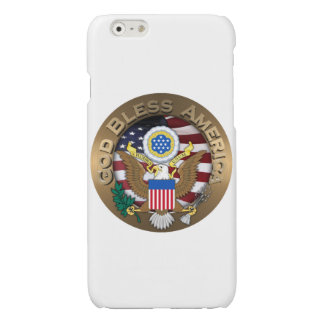 United States of America Seal - God Bless America Glossy iPhone 6 Case